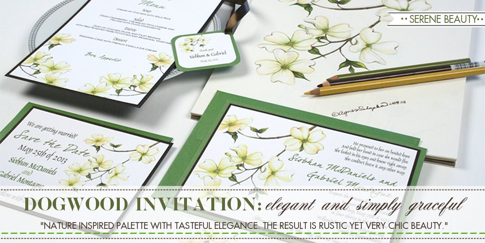Dogwood Wedding Theme, Wedding Invitation