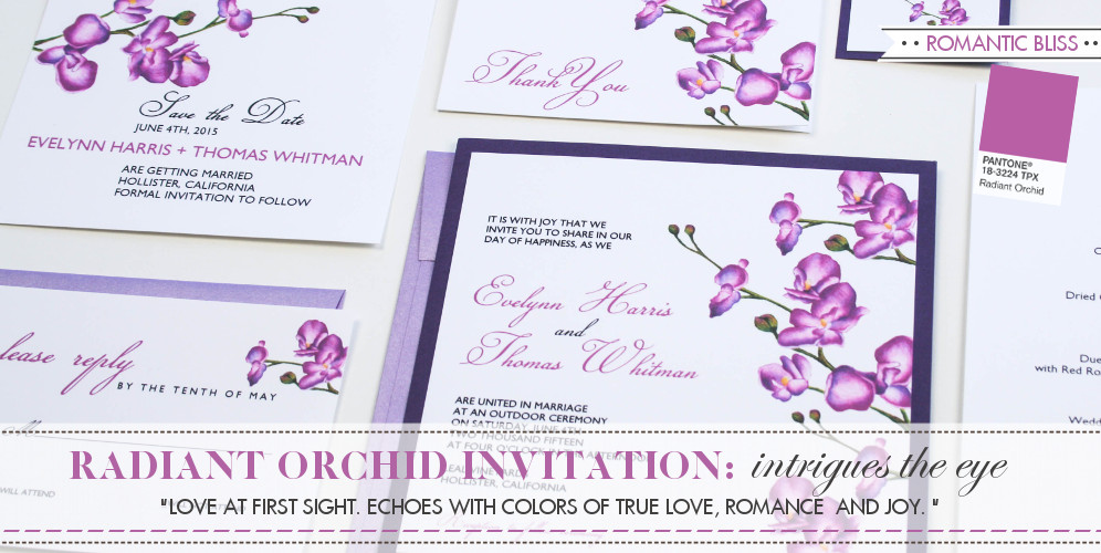 Orchid Wedding Theme, Wedding Invitation