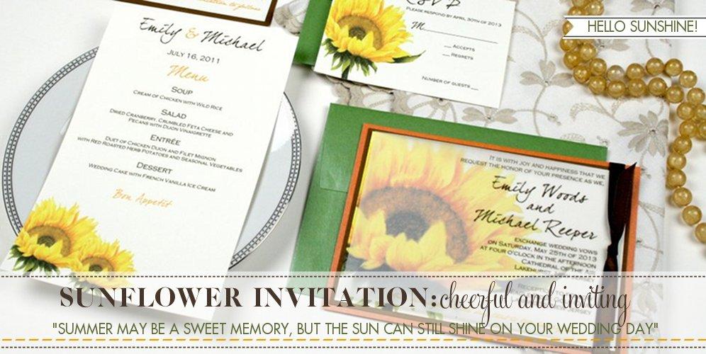 Sunflower Wedding Theme, Sunflower Invitation