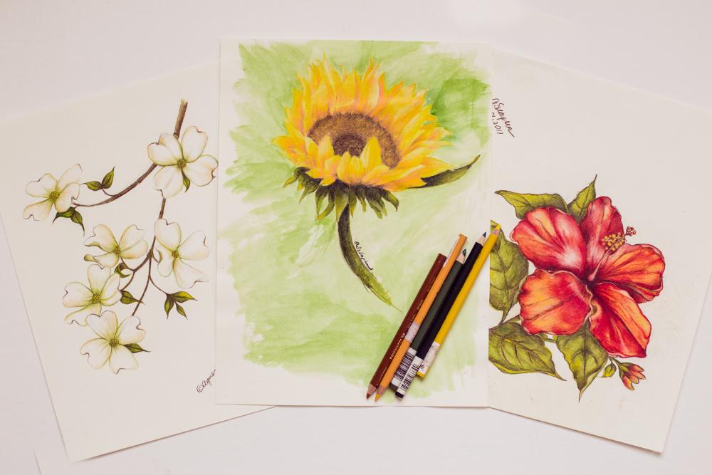 floral artwork original art agnes szlapka cleveland ohio artist
