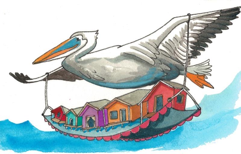 "Pelican's Shacks - ""Pelican's place is a pelicatessan of sweet waves."