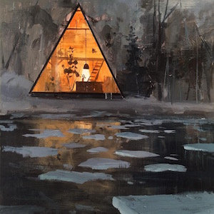 #7 - Jeremy Miranda's hot coal in an icy lake A-frame.
