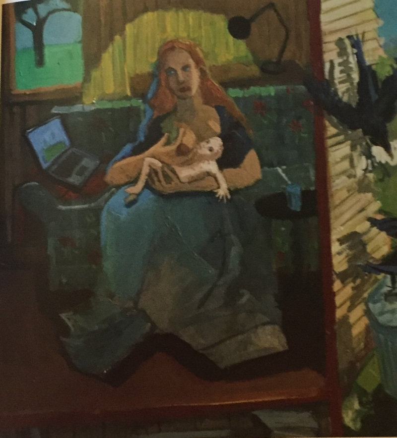 """Madonna of the Laptop"" by Ashley Norwood Cooper"