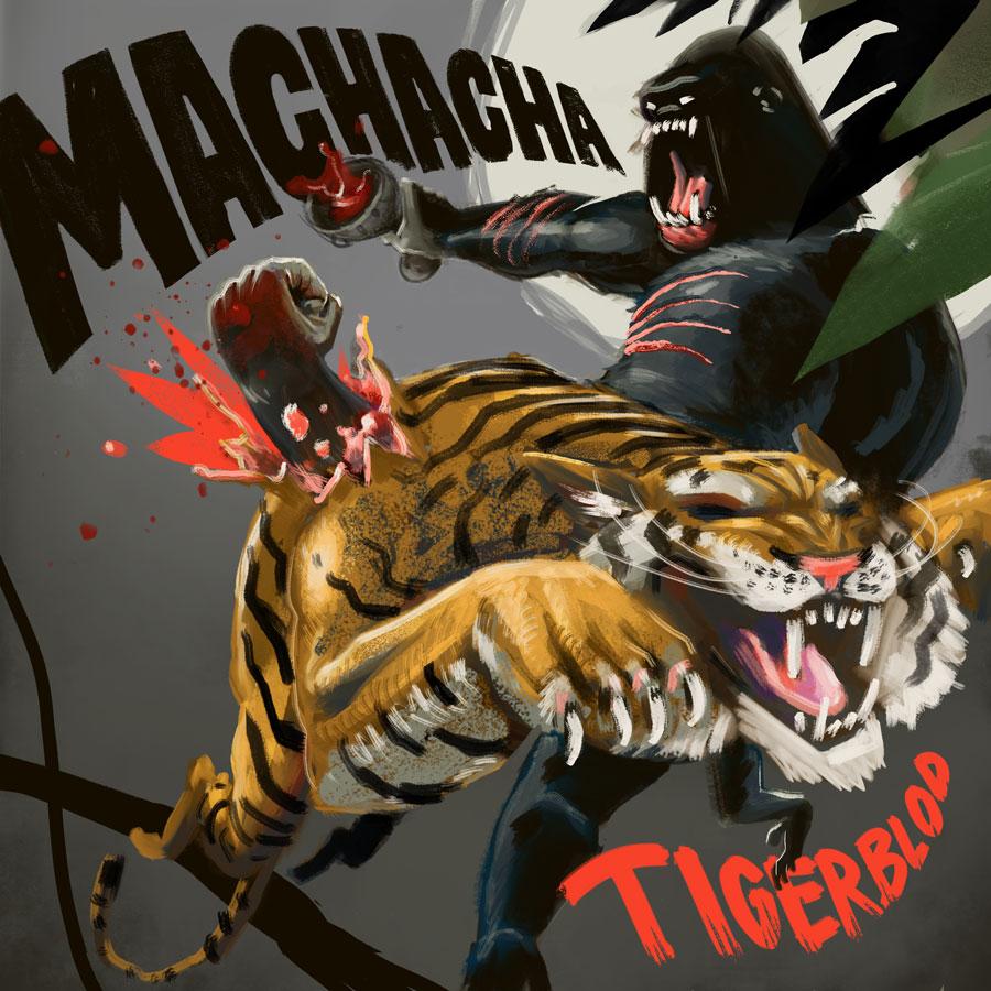 Machacha Tigerblod Format: 50x50 cm Blækprint Signeret i hånden Pris: 350