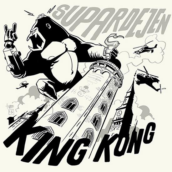 Supardejen King Kong Format: 50x50 cm Blækprint Signeret i hånden Pris: 350