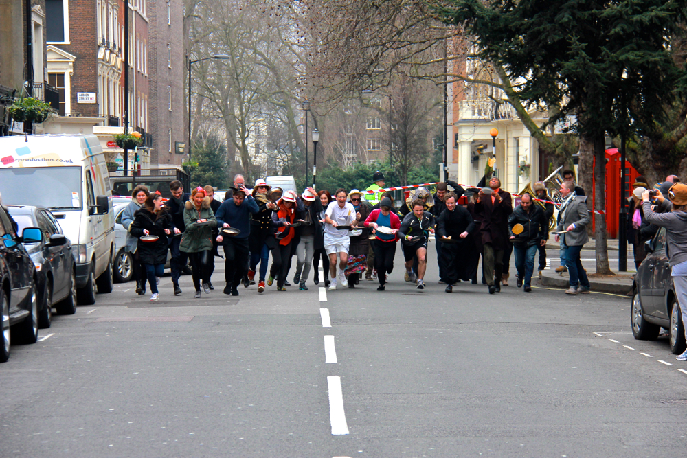 Shrove Tuesday Pancake Race