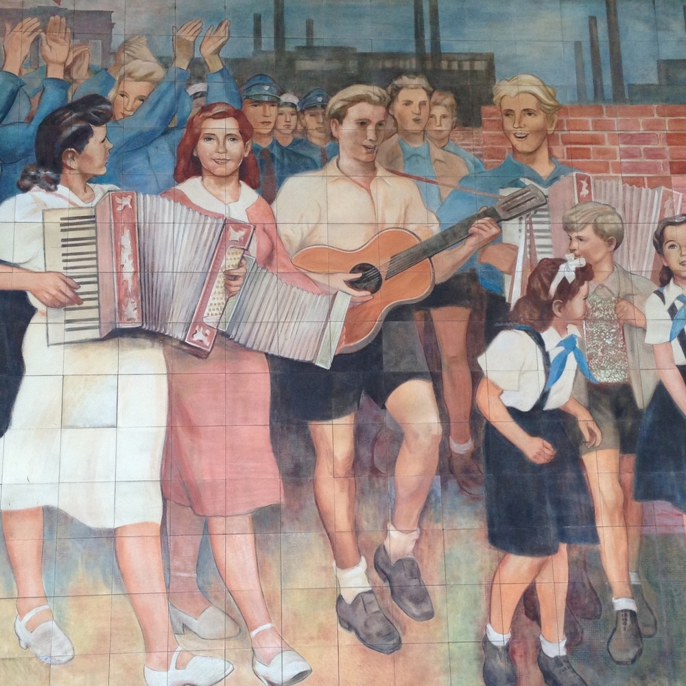 Socialism is great according to this government mural!