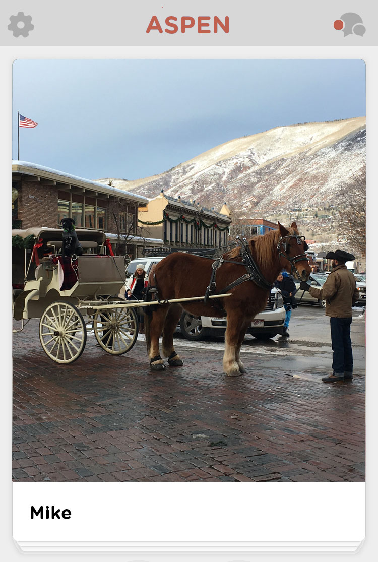 Aspen mountain and street horse and buggy
