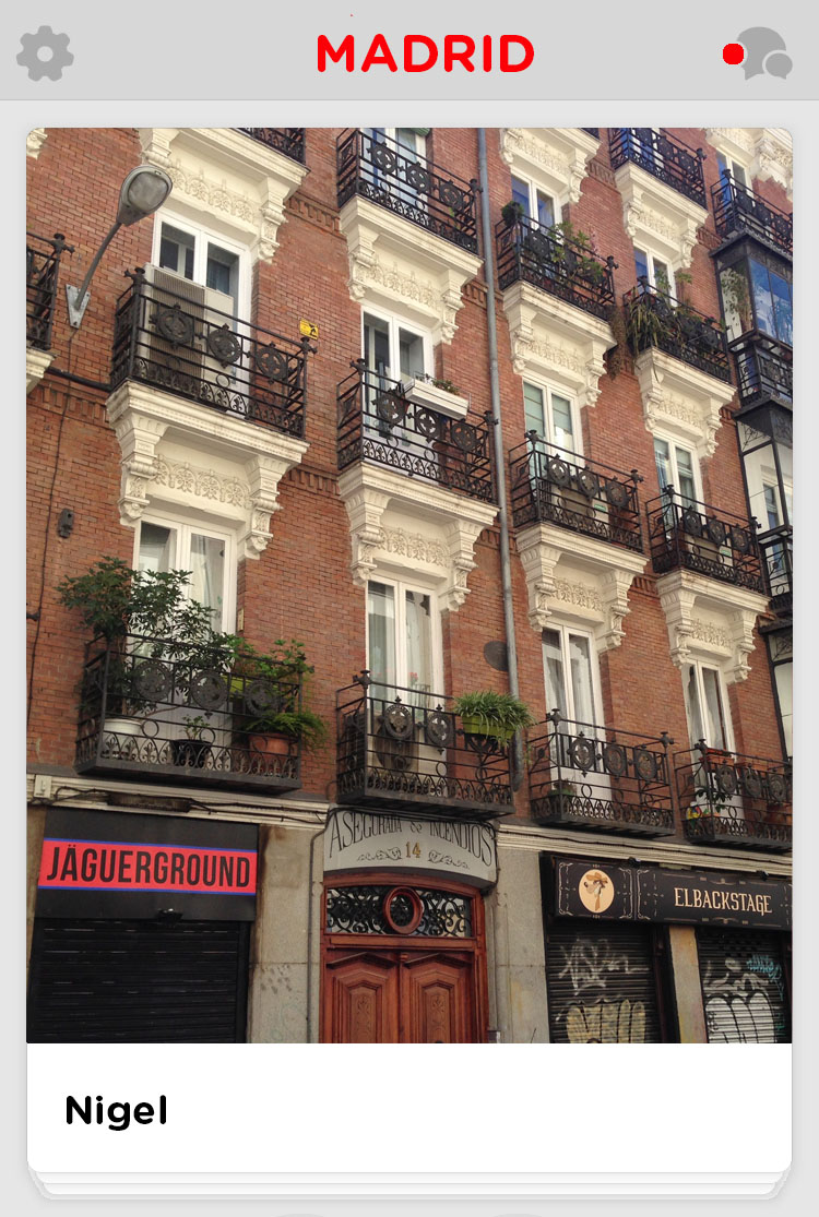 Madrid building and balconies