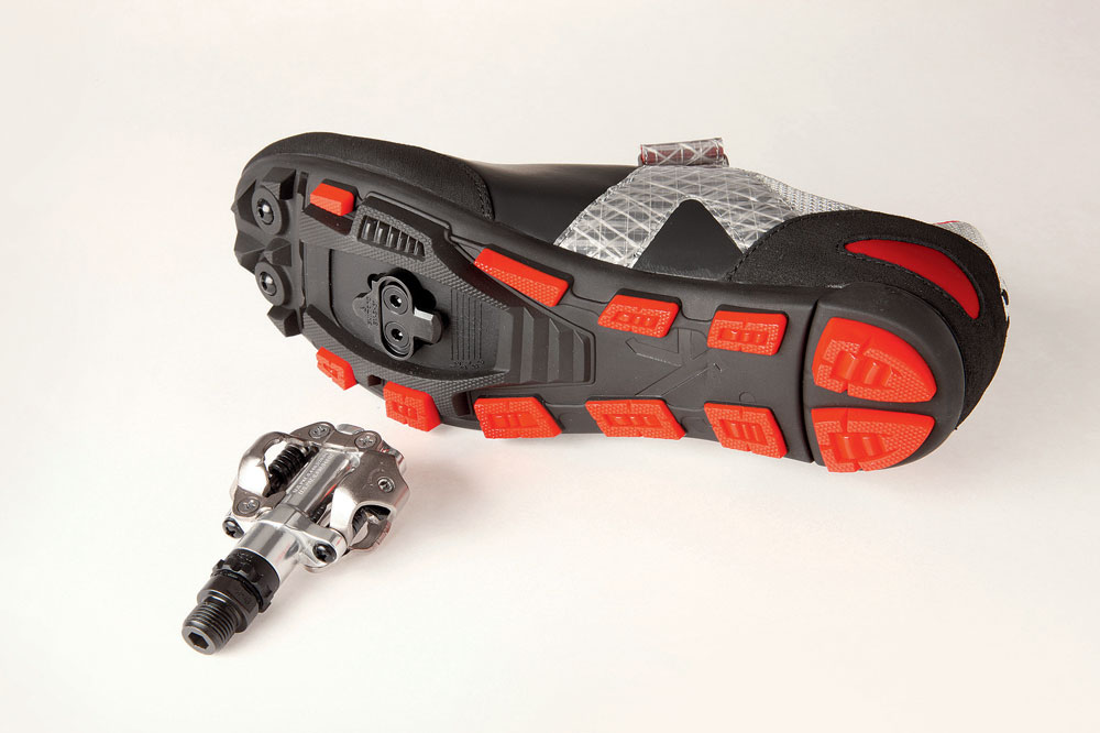 Clipless pedals with shoes