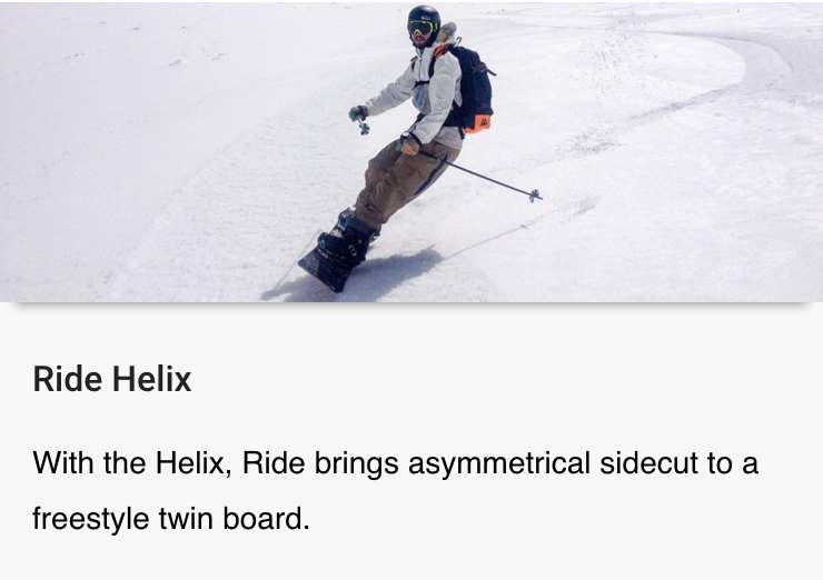 Review of the Ride Helix published by Blister Gear Review