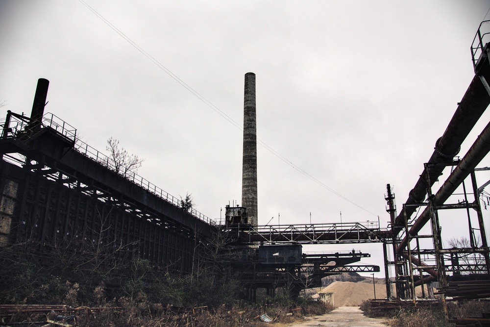 Coke ovens and pusher machine  c.2009