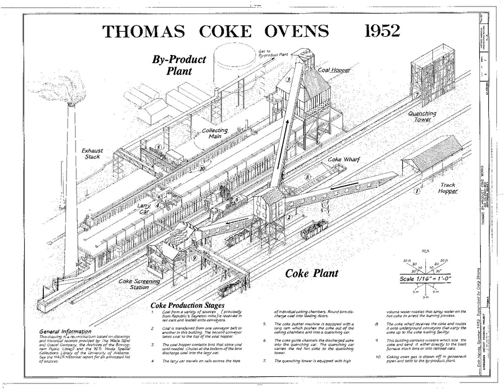 1952 Coke Plant Diagram. (Public domain record)