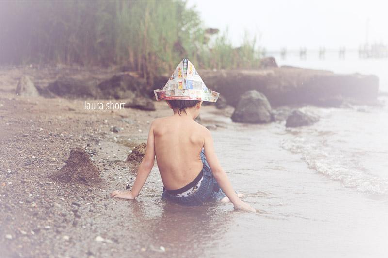 Edgemere beach child photographer Laura Short