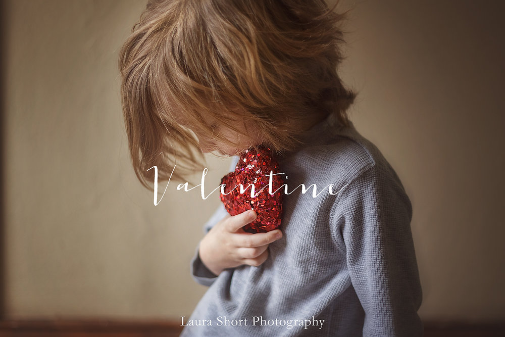 denville valentines day photographer boy holding heart