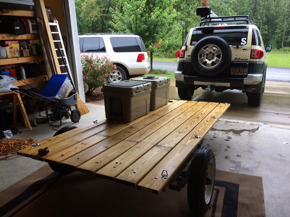 I built a super cool hunting trailer from and old rusted up jon boat trailer....