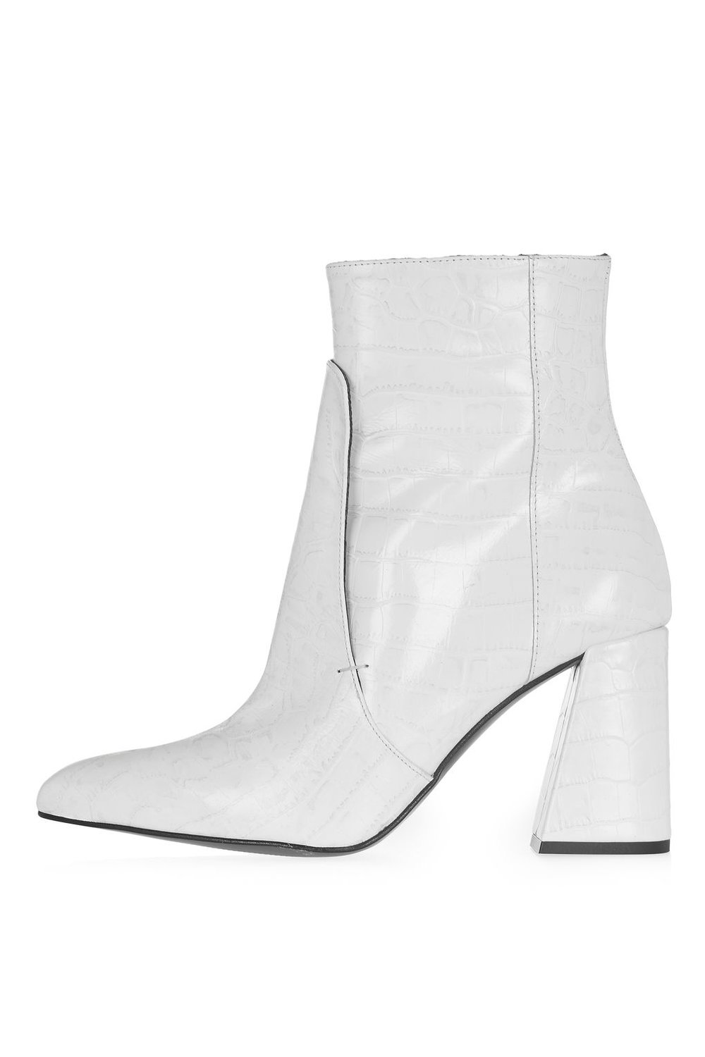 White Heeled Booties | $170
