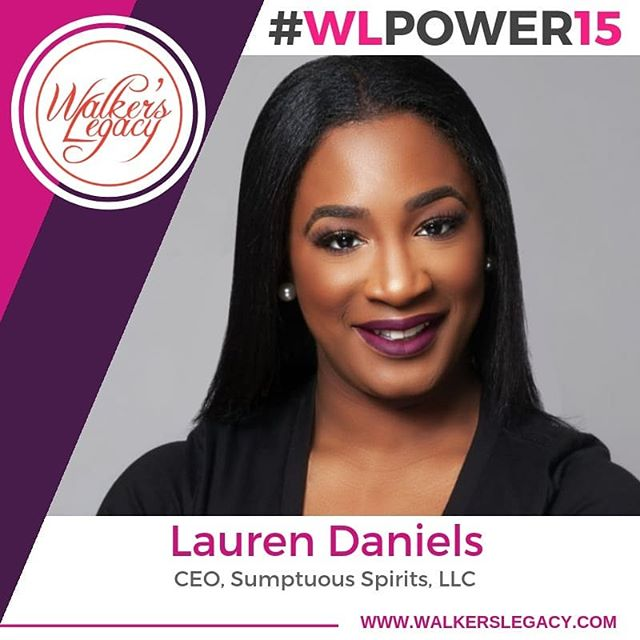 """Our CEO, Lauren Danielle has been selected as a 2018 """"Power 15"""" Award honoree presented by Walker's Legacy, a global platform for the professional and entrepreneurial multicultural woman.  Presented in partnership with the Minority Business Development Agency (MBDA) and AARP, the Power 15 Award recognizes notable community and business leaders who thrive in an array of industries including social entrepreneurship, business, technology, media, and real estate among others.  Since launching in 2016, Sumptuous Spirits has grown to a team of 20+ staff members; curating bar experiences for including Google, We Work, Alex and Ani, The Lip Bar, American Heart Association, Moose Jaw, and more. Her mission is not only for people to enjoy themselves over a great cocktail but under her company's mission she is creatingexperiences while bringing communities together.  Congrats Lauren! • • •  #WLPower15 #WalkersLegacy #WalkersLegacyDetroit #gamechangers #millenials #multicutural #womenownedbusiness #sumptuousspirits #detroitentrepreneurs #detroitbusiness #metrodetroit #entrepreneurlife #detroitsmallbusiness #entrepreneurship #femaleentrepreneurs #womenwhohustle #success #networking #girlpower #blackgirlmagic #blackexcellence #goalgetter #hustle #ladyboss #femaleboss #femaleceo #Femalehustler #womeninbusiness #influential #blackownedbusiness"""