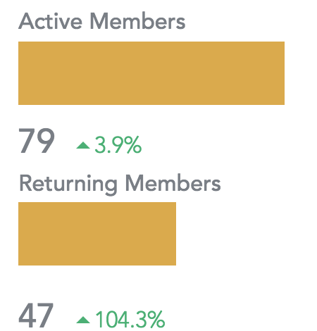 47% of Active members are returning members -