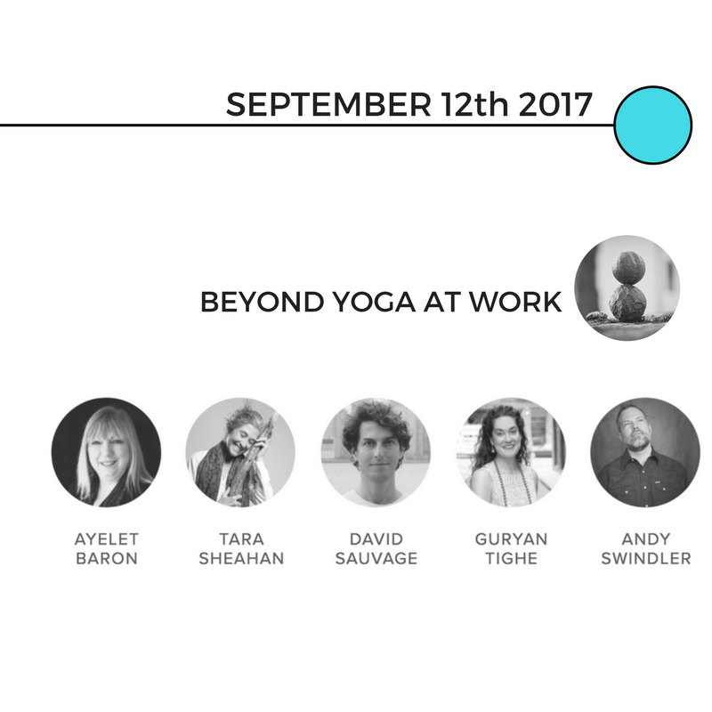 Ayelet hosted our Beyond Yoga at Work conversation. We were more comfortable using the webinar format and questions and answers from listeners.  -