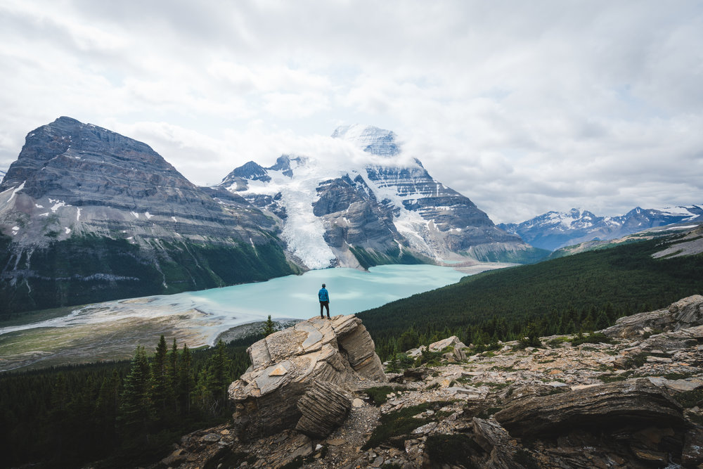 The Berg Lake Trail in Mount Robson Provincial Park, British Columbia is a truly awesome sight in the Canadian Rocky Mountains.