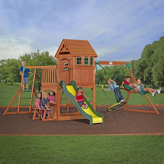 backyard discovery montpelier cedar swing set 3