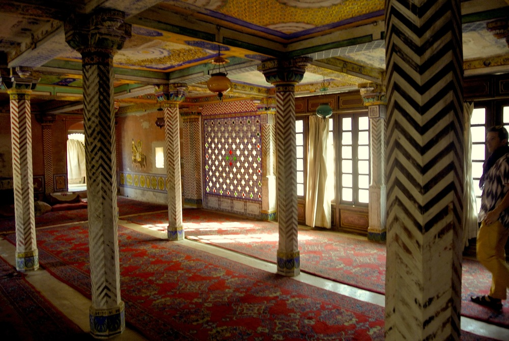 The reception hall in the Juna Mahal