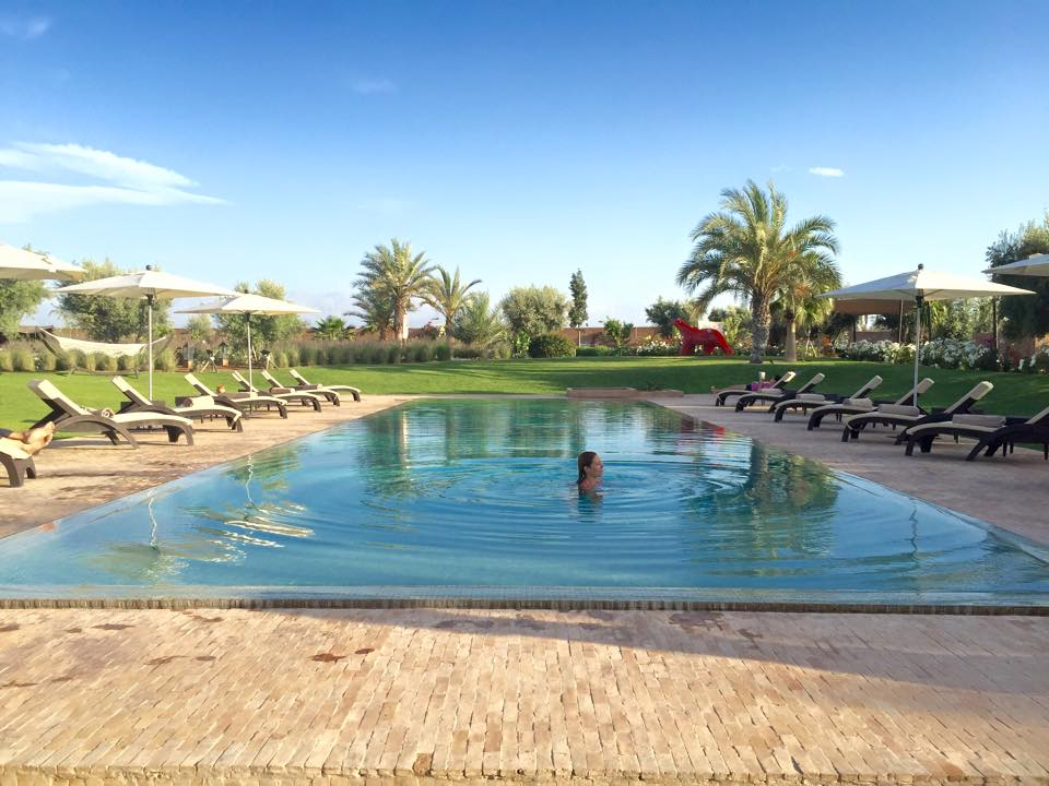 The amazing pool at the Escape to Shape resort in Marrakech, Morocco