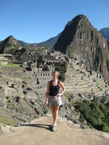 Nancy at the peak of Machu Picchu
