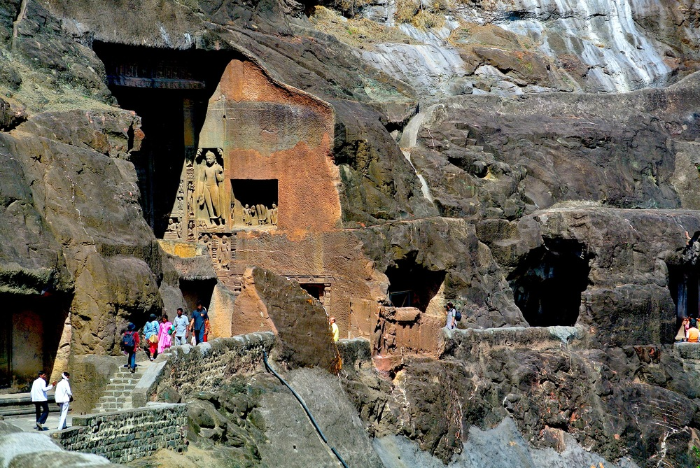 The Ajanta Caves outside of Aurangabad, India