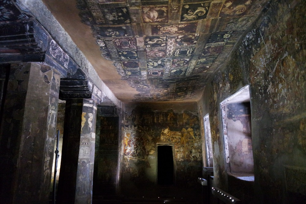 Cave 17: This cave has some of the best-preserved paintings at Ajanta