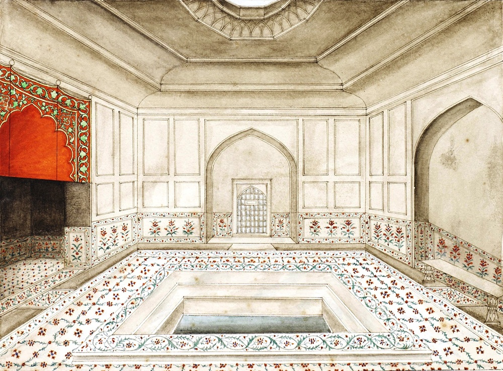 The hammam, or baths, of the Red Fort