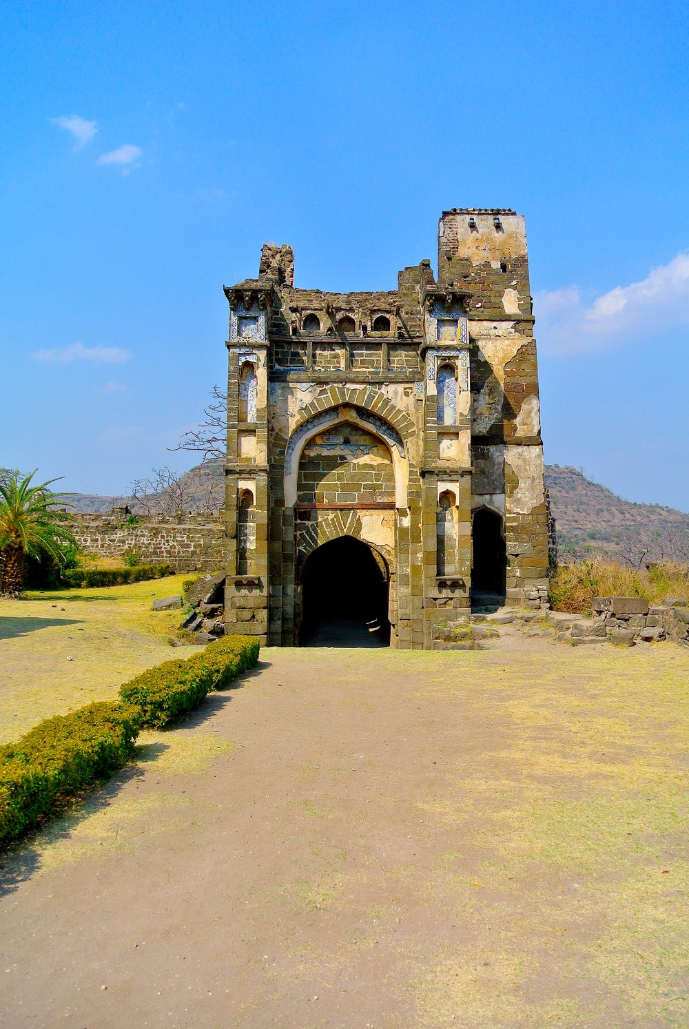 The Chinese Palace, or Chini Mahal, at Daulatabad in India
