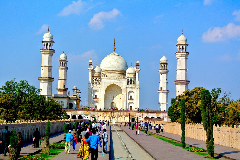 The Bibi ka Maqbara, or the Lady's Tomb — it's the poor man's Taj Mahal