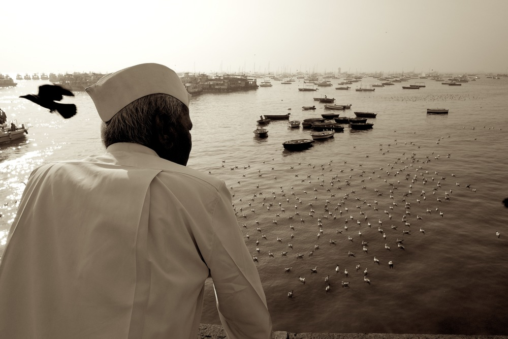 Looking out upon the Arabian Sea in Colaba, Mumbai, India