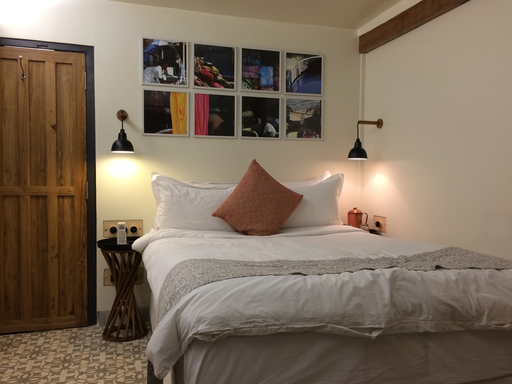 Our cozy, stylish room at Abode Bombay