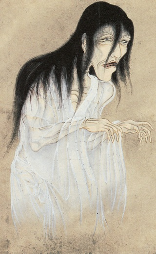 This yurei, a vengeful ghost from Japan, seeks revenge for a wrongful death