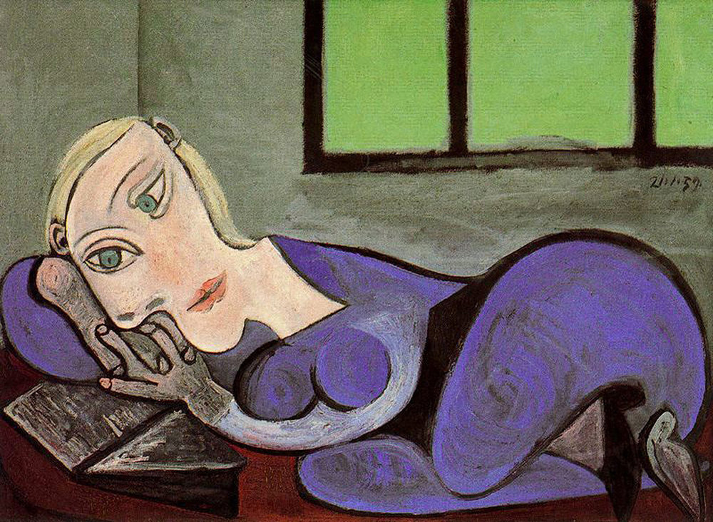 The subject of this and many other paintings was Picasso's number-one muse, Marie-Thérèse Walter ( Reclining Woman Reading , 1960)