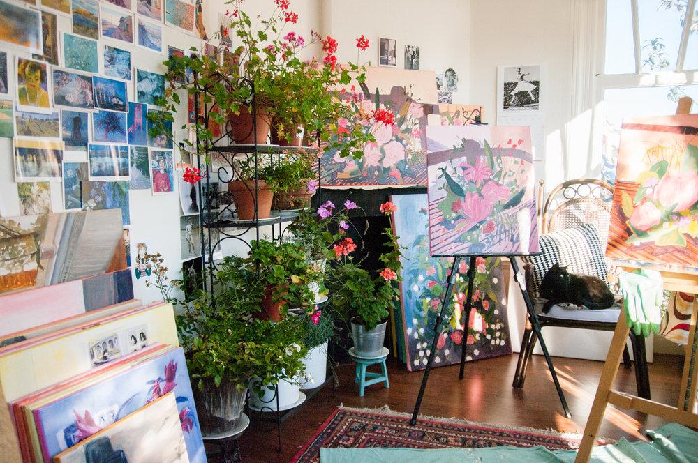 Morgan's lovely studio in her Utrecht apartment