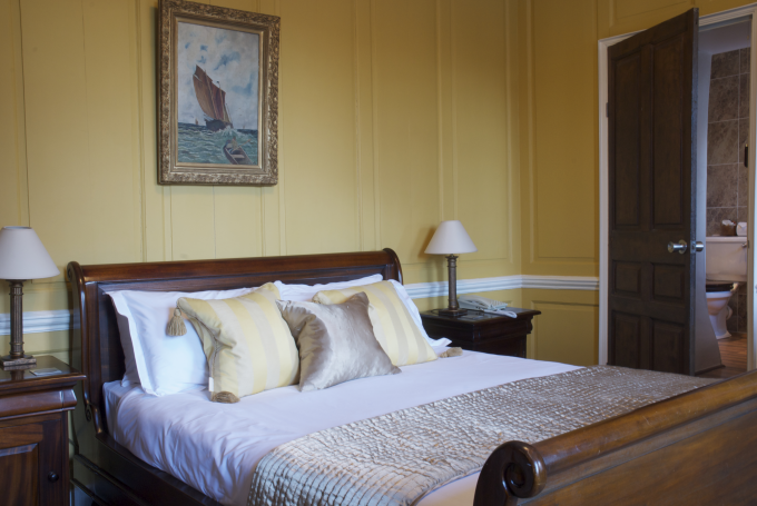 One of the bedrooms at the Bowlish House