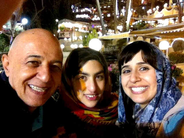 Alma with her dad and cousin in Darband