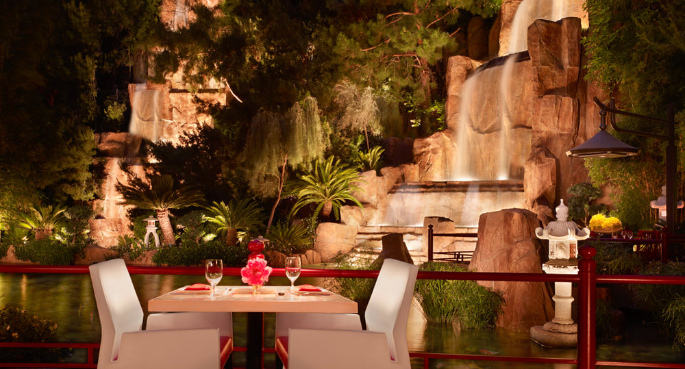 Great sushi and more in a lush garden setting at Mizumi, located at the Wynn hotel in Vegas