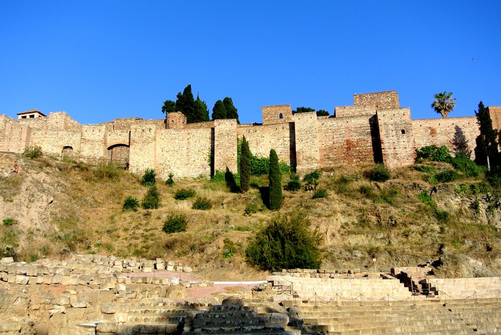 The Alcazaba, a Moorish fortress, and the Roman Theatre are right in the centro of Málaga, Spain