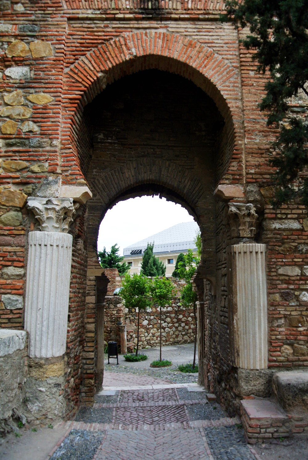 The Puerta de las Columnas, or the Gate of the Columns, was built using Roman marble columns to hold up the Moorish horseshoe arches
