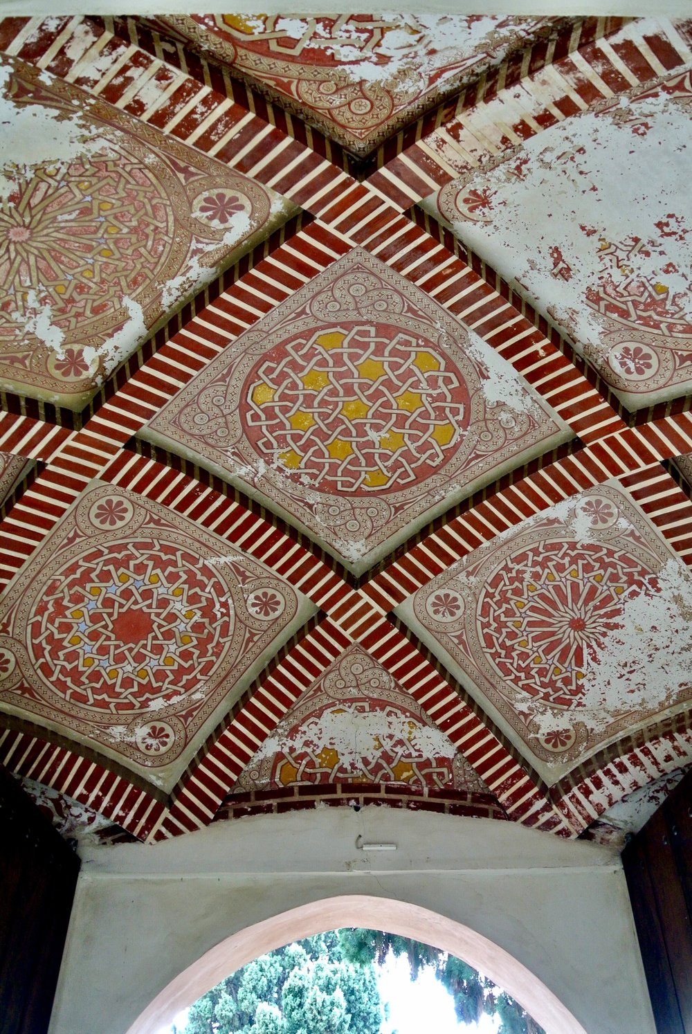 Don't forget to look up: The tilework on the ceiling is impressive, if faded, in parts