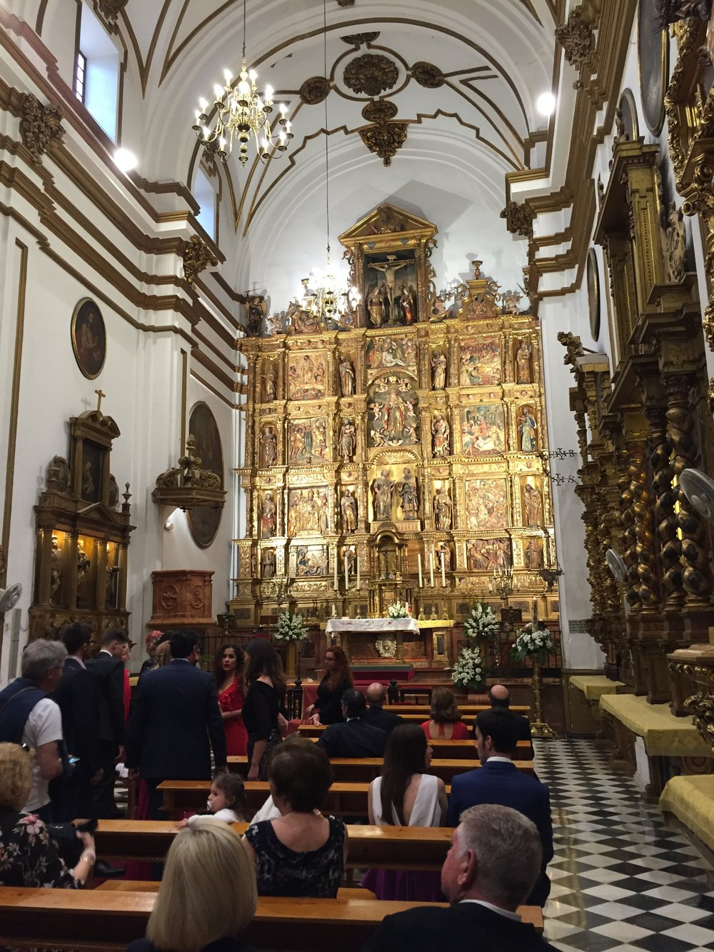 We decided not to crash the wedding at the Church of El Sagrario after all