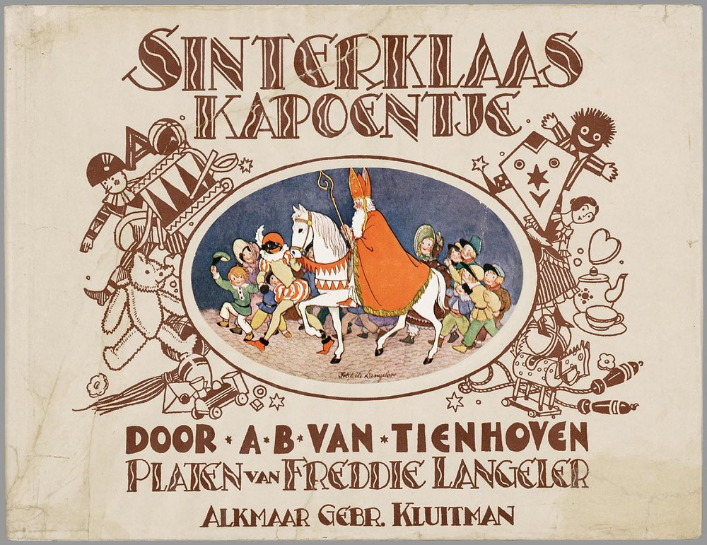 A children's book about Sinterklaas, the bishop who became Santa Claus