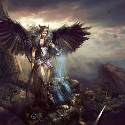 Freya is also the goddess of war and death