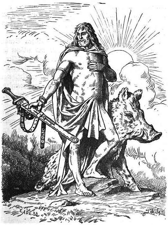 Pagans would offer sacrifices to Freyr, the Norse god of fertility