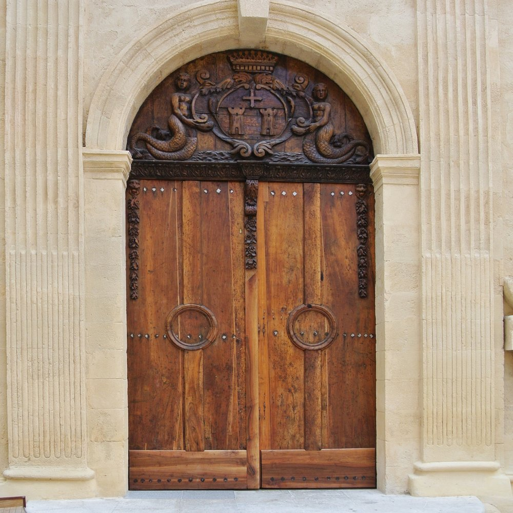 1. If Aix-en-Provence, France doesn't charm you with its markets, food and architecture, there is no shortage of magnificent elaborately hand-carved entry doors to look at.